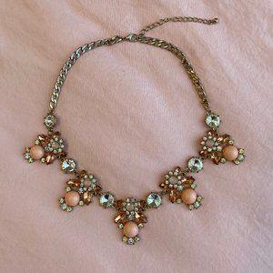 Aldo Pink Floral Statement Necklace